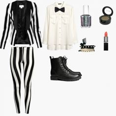 Beetlejuice costume by princessieromustdie on polyvore featuring beetlejuice costume many more adorable diy costume ideas here signing up takes solutioingenieria Gallery