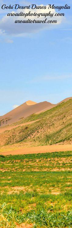 Dunes of the Great Gobi Desert in Mongolia.