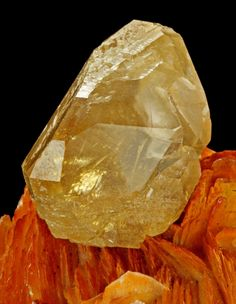 Gemmy Cerrusite on reddish-brown bladed Barite, from Mibladene, Midelt, Khenifra Province, Meknes-Tafilalet Region, Morocco