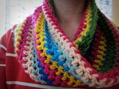 Candyland Crochet Cowl | AllFreeCrochet.com
