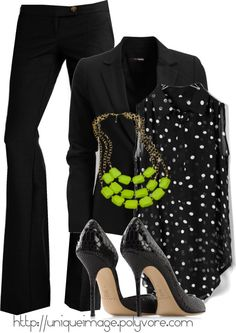 """""""Lime Green Necklace #1"""" by uniqueimage on Polyvore"""