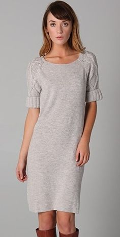 Marc By Marc Jacobs Viva Cable Sweater Dress Cashmere Silk Knit Gray Mini XS  #MarcbyMarcJacobs #SweaterDress #AnyOccasion