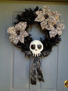 Nightmare Before Christmas Skull by ZombieStudios on Etsy, $30.00