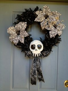 Nightmare Before Christmas Skull. $30.00, via Etsy.