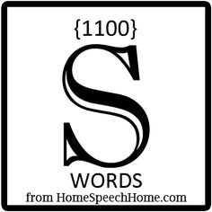 1100  S Words, Phrases, Sentences, and Reading Passages Grouped by Place, Syllable,