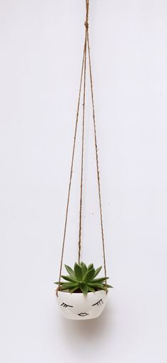 Hanging Planter // Face Planter Character Plant by BerriesForBella