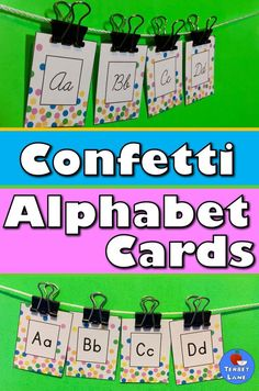 Polka dot confetti alphabet cards for a fun alphabet line or as word wall header cards. Fun Writing Prompts, Writing Strategies, Cool Writing, Writing Resources, Teaching Resources, Alphabet Line, Alphabet Cards, Alphabet Letters, Education Middle School