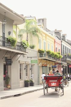 The pastel streets of New Orleans