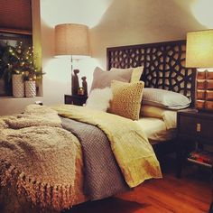 Morocco Headboard + Lubna Chowdry Lamp + Niche Nightstands + more in this stylish bedroom from the #mywestelm Instagram gallery!