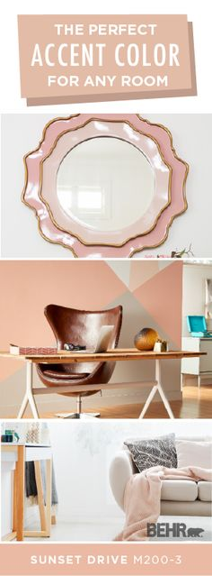 Sunset Drive by BEHR® Paint adds a pop of blush pink color to every room in your home. A fun way . Modern Wood Floors, Living Room Hardwood Floors, Maple Hardwood Floors, Light Oak Floors, Behr Colors, Entry Way Design, Living Room Tv, Floor Design, Modern Interior Design