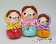 Bambola di Matryoshka  PDF Crochet Pattern di jaravee su Etsy