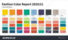 Fashion Color trend 2020-2021. An example of a color palette. Forecast of the future color trend. Fashion Colours, Colorful Fashion, Color Trends, Design Trends, Casual Fashion Trends, Pantone 2020, Fashion Forecasting, Winter Mode, Colour Board