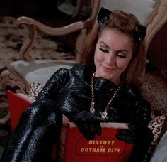 Find out who their favorite character is and get them a costume or accessories. Batman 1966, Batman And Catwoman, Joker, Batman Comics, Batman Robin, Batgirl, Batman Cat, Dc Comics, Julie Newmar