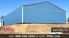 #big #garage #bigblue #bluegarage #storage #blue #metalsiding #polebuilding #pioneerpolebuildings #photosofpolebuildings #photosofcargarages #ppb #overhangs #pioneer #white #whitetrim Trim Color, Color Red, Pitch Colour, Pole Buildings, Blue Building, Metal Siding, Siding Colors, Garage Design, 4 H