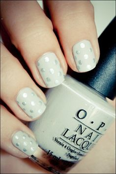 Icy dots - use a q-tip with silver polish over pale colored base