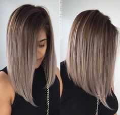 Haare Straight Bob Hairstyles WeddingTrix: The Affiliate Honeymoon One of the most robust sales mark Hair Styles 2016, Medium Hair Styles, Short Hair Styles, Short Straight Hair, Short Hair Cuts, Long Bob Hairstyles, Ombre Hair Color, Ash Color, Hair Highlights