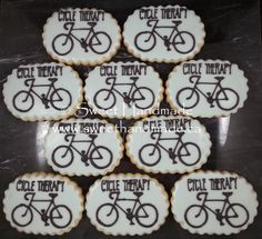 Sweet Handmade Cookies: Road Bike Cookies