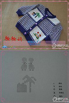 Кофточка с зайчиками. | Baby Cardigan Knitting Pattern Free, Baby Knitting Patterns, Knitting Stitches, Knitting Designs, Knitting Socks, Baby Boy Cardigan, Knit Baby Dress, Knitted Baby Cardigan, Knit Baby Sweaters