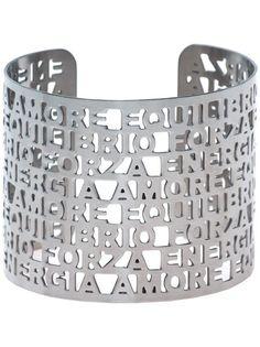 FRANCESCA ROMANA DIANA Bracelete Prateado Com Estrutura Vazada.