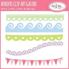 #Borders #clipart galore - http://luvly.co/items/4046/Borders-clipart-galore