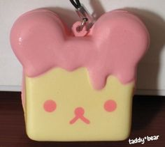 Rilakkuma Pink *STRAWBERRY* Toast Kawaii Squishy Phone Charm Strap | eBay