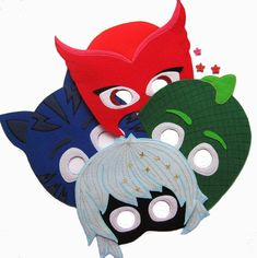 Items similar to PJ Masks Luna Girl - PJ party - Super hero mask - Halloween Mask - Luna Girl Mask - Luna Girl costume - Felt Mask Kids - PJ Masks birthday on Etsy Pj Party, Mask Party, Needle Felted Animals, Felt Animals, Felt Mask, Pj Mask, Halloween Masks, Girl Costumes, Mask For Kids