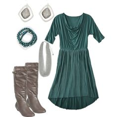 DYT type 2 Teal - my perfect teal color + taupe boots (I need these boots!)