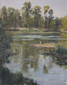 "Delta Morning by Emily  Schultz   Oil ~ 10"" x 8"""