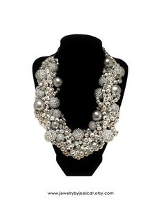 ORIGINAL TWISTED Statement Necklace Silver by JewelryByJessicaT