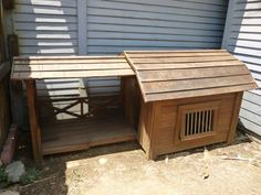 coolest dog house with patio