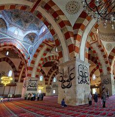 Edirne Turkey Unique Ancient History - Gets Ready Mosque Architecture, Interior Architecture, Interior Design, Beautiful Mosques, Ottoman Empire, Capital City, Islamic Art, Ancient History, Barcelona Cathedral