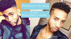 HOW TO GET : Perfect Curly Hair (For Black Men | Natural Dry Hair ) | 20...