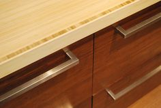 Bamboo Vertical Natural grain used as a work surface.