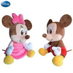 aa262f905151 Disney Brand Mickey Mouse Minnie Mouse Cotton Kawaii Plush Stuffed Animal  Toys Doll Christmas Birthday Gifts