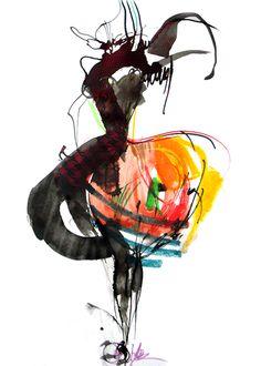 'My little crazy pony'. Giclée Art Print by Sonia Hensler