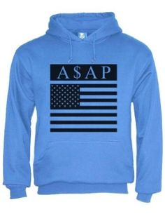 Amazon.com: ASAP A$AP Rocky Trill Flag Hoodie: Clothing- Riley size large