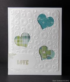 Hearts and embossing