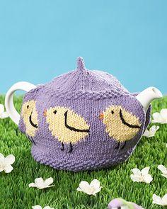 Lily Sugar'n Cream - Little Chicks Tea Cozy (free knitting pattern) #easter