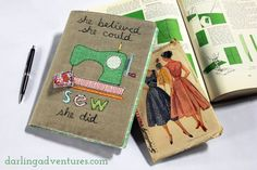 Sewing a Journal or Notebook Cover