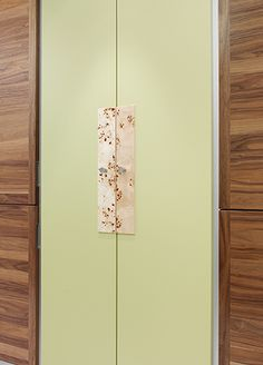 Door accents in pippy poplar make for an enticing #texture