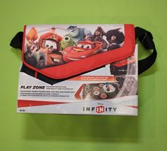Disney Infinity Bag Travel Case Play Zone Roll Out Mat Disc Storage Messenger  #Disney