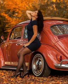 Classic Car News Pics And Videos From Around The World Trucks And Girls, Car Girls, 3008 Peugeot, Peugeot 206, Hot Vw, Bus Girl, Vw Vintage, Pantyhose Legs, Nylons