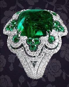 #Emerald #Diamond #Rings #jewellery