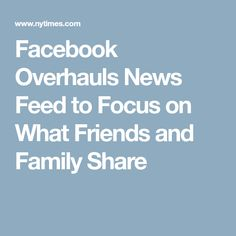 Facebook Overhauls N