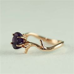 Unique Branch and Natural Purple Amethyst by 4FireflyCollections, $60.00