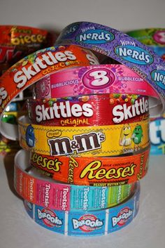 Candy wrapper headbands!