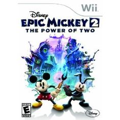 Disney Epic Mickey 2: The Power of Two for Wii - Disney Epic Mickey 2: The Power of Two is an Action-Adventure Platforming game set in the Disney themed gameworld of Wasteland. The game utilizes the same open-ended, environment-manipulating play mechanics of the original Disney Epic Mickey to create a unique experience that lets players create their own paths through game levels. $39.99
