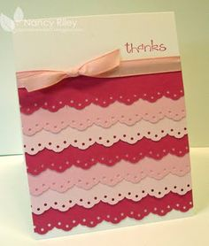I've pinned many cards like this.  Gonna get out scraps tonight and make some.  A scrapbook page too!