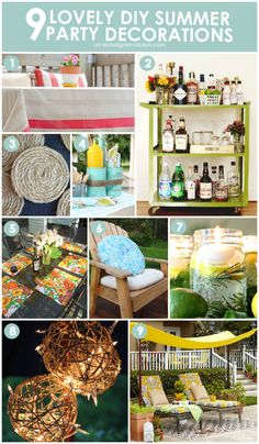 9 Lovely DIY Summer Party Decorations | Redesign Revolution