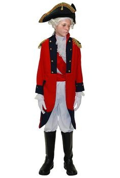Sir Henry Clinton británico de la guerra revolucionaria Unifrom de hijos, traje de calidad teatral, a pie a través de eventos, programas y juegos